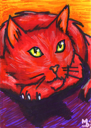 Red Cat By Mourning Daily