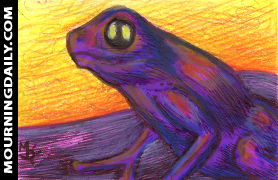 Frog Purple Sketch Card