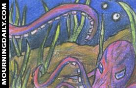 Octopus Sketch Card